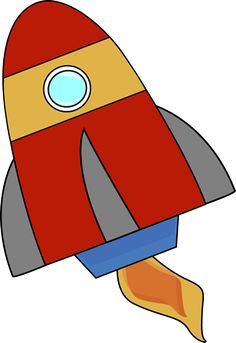 Spaceship clipart red. Coloring page how to