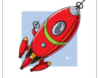Spaceship clipart red. Rocket free icon