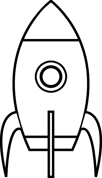 Blank rocket ship templates. Spacecraft drawing spaceship vector transparent stock
