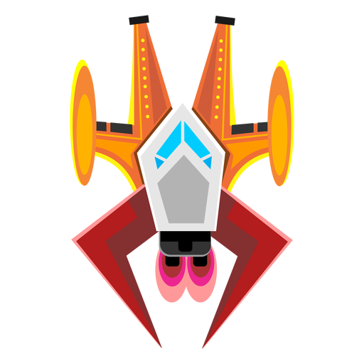 Spaceship svg vector. Arcade icon transparent png