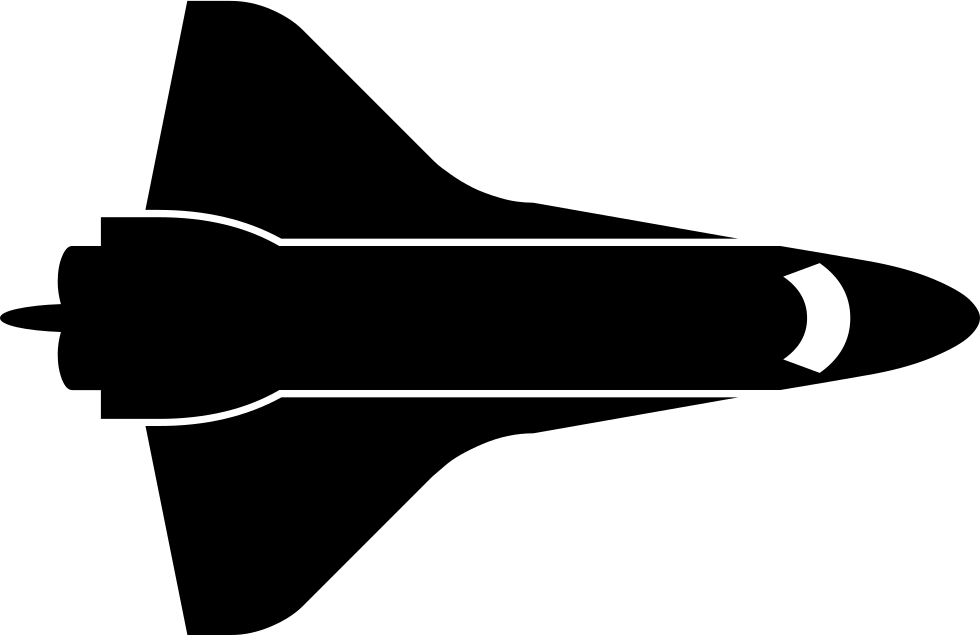 Spaceship svg silhouette. Space shuttle at getdrawings