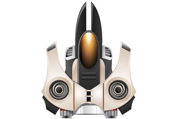 Spaceship transparent png. Vector drawing free icons