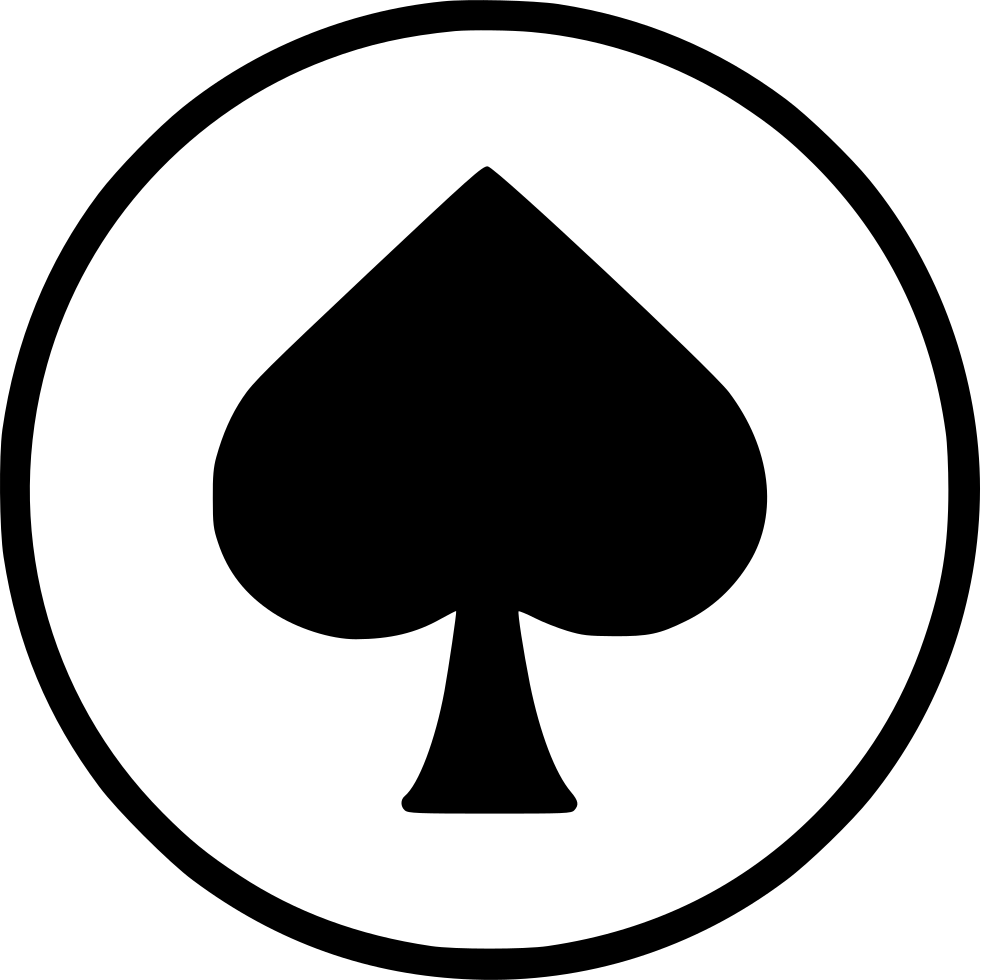 Poker spade png. Card casino playing gamble