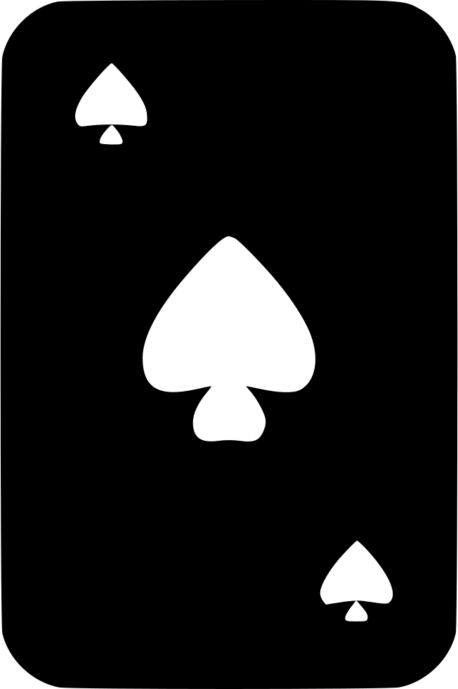 Spade card png. Playing svg icon free