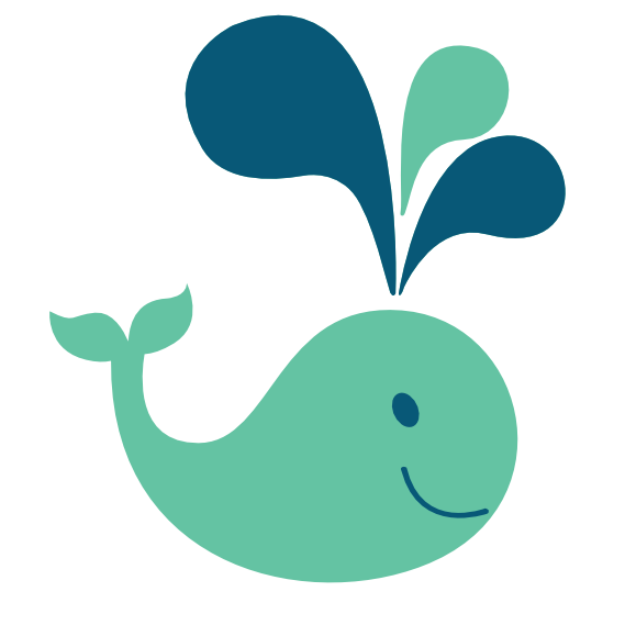 Transparent whale svg. Colorful animal scalable vector