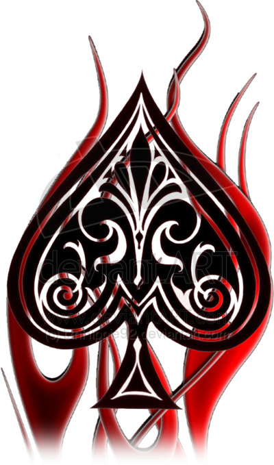 Spade tattoo png. Queen of spades design