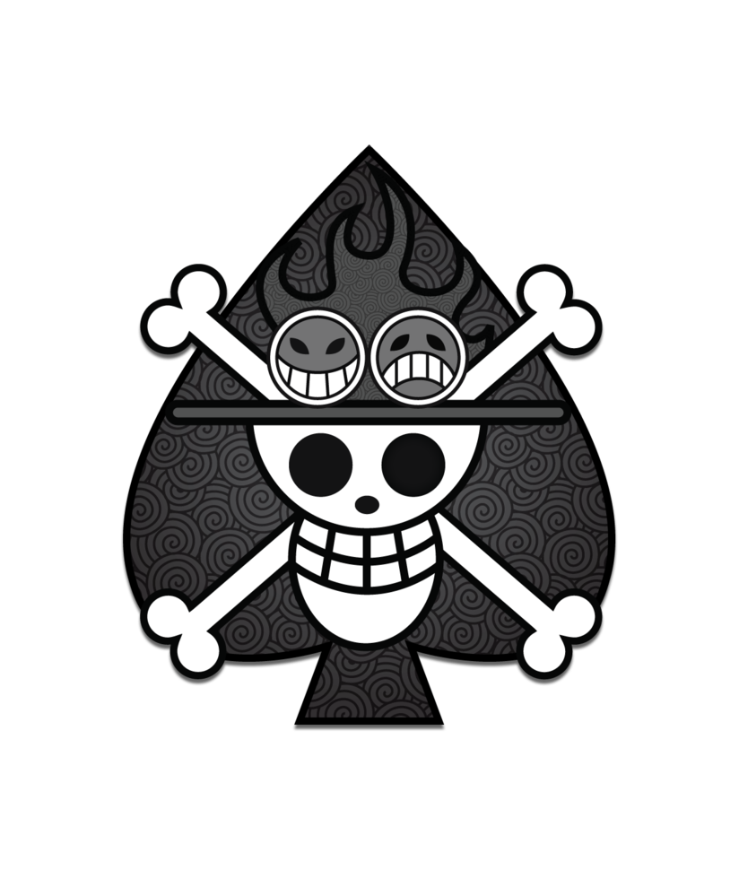 Spade tattoo png. Black and white pirates