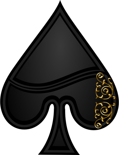 Spades vector. Image of spade playing