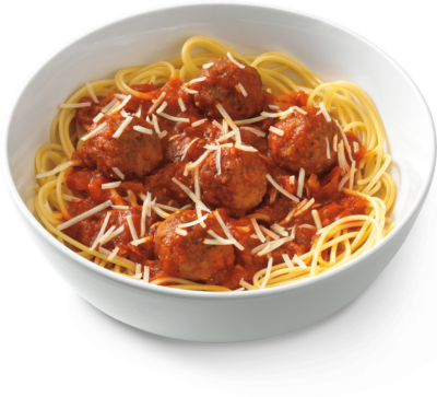 Spaghetti and meatballs png. Small from noodles company