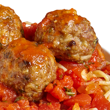 Spaghetti and meatballs png. With sicilian central market