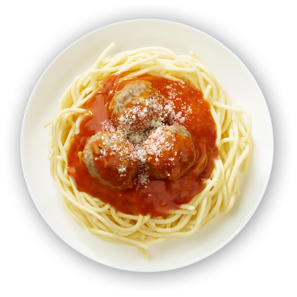 Spaghetti and meatballs png. Enricos