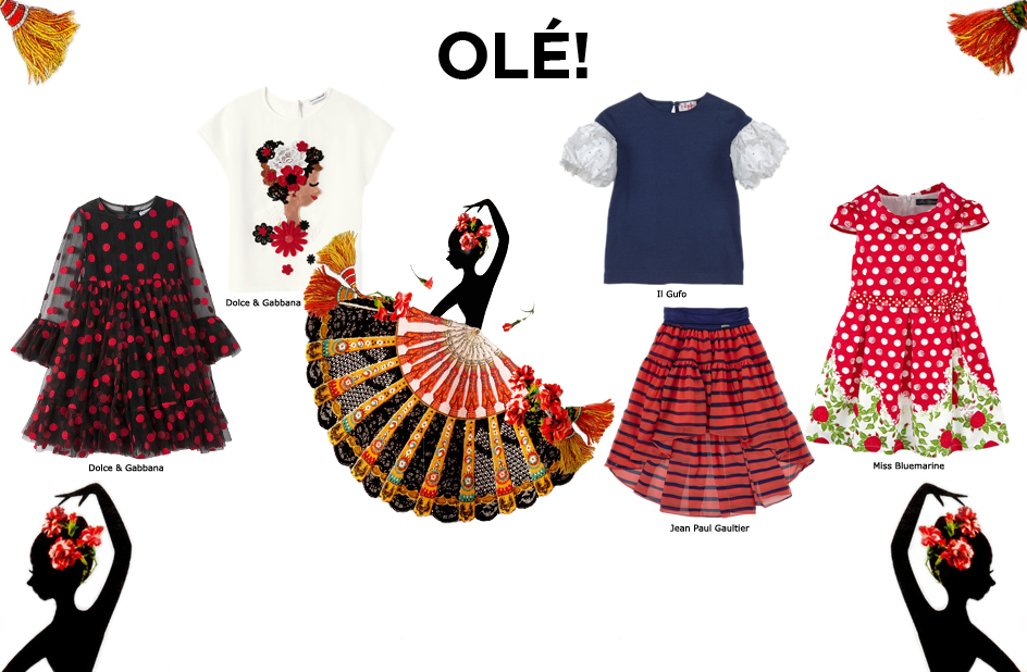 Spain clipart clothes spanish. Inspired girl s clothing