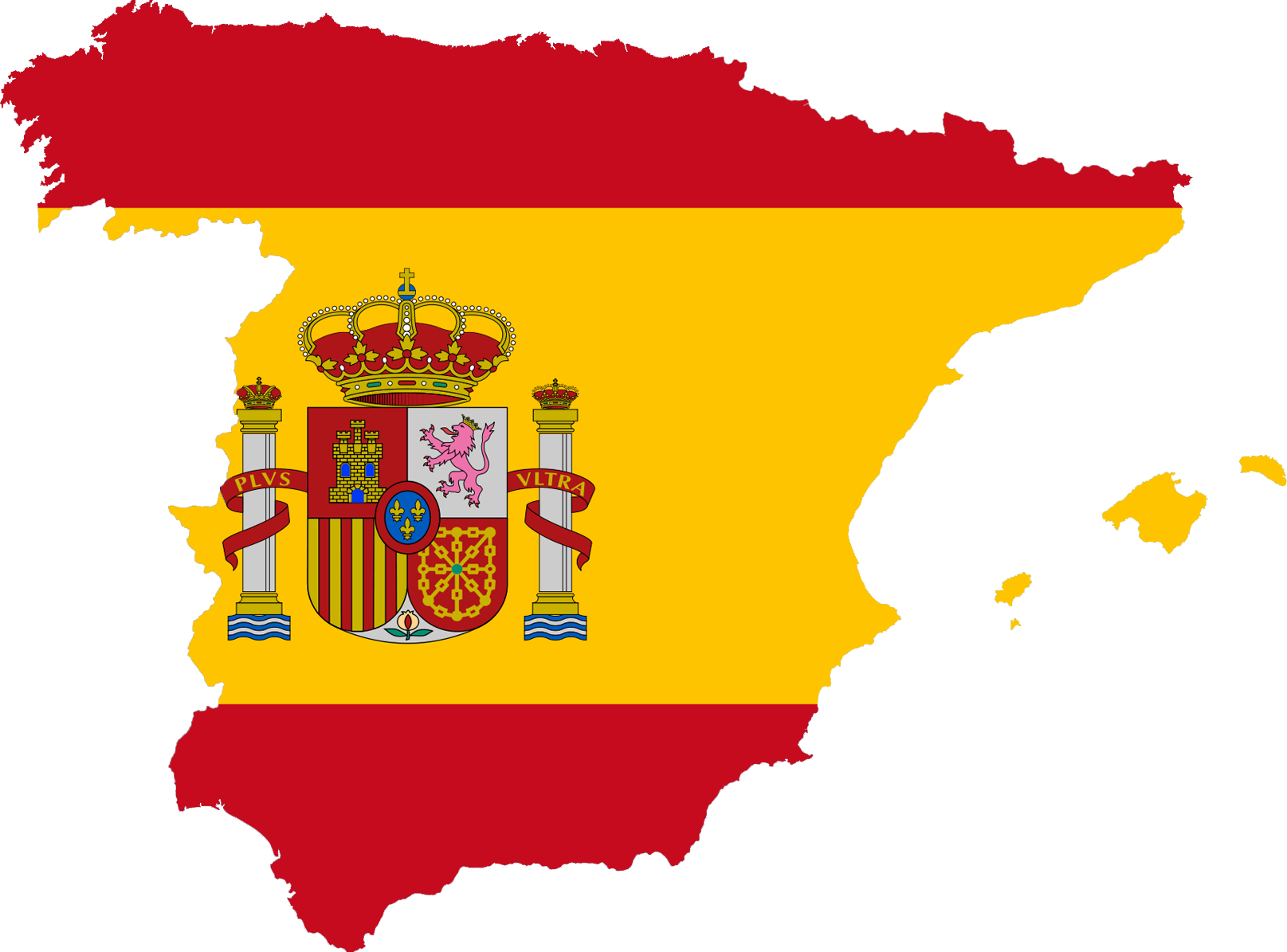 Spain flag png. File map plus ultra