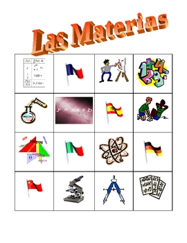 Spanish clipart subject spanish. Materias school subjects in