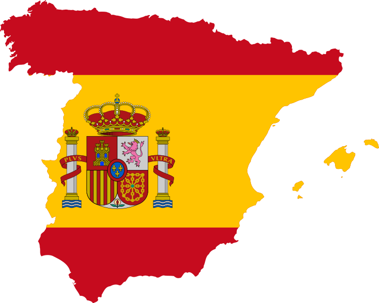 Spanish flag png. File map of spain