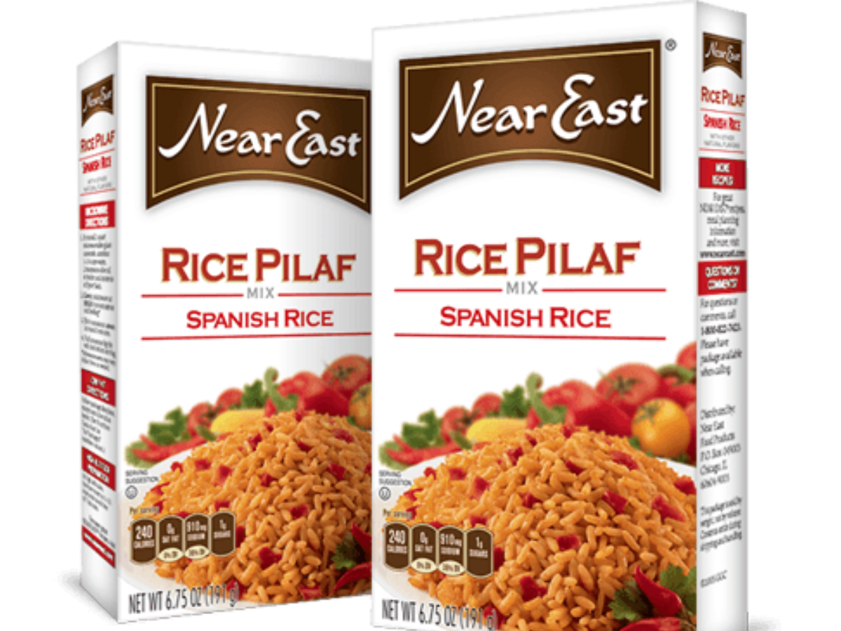 Spanish rice png. Pilaf mix nutrition information