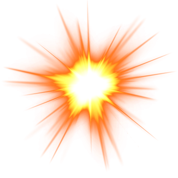 Spark effect png. Explosion flame clip art