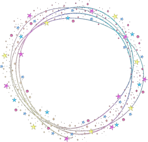 Sparkle circle png. Shapes frame overlay colorful
