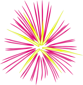Sparks clipart cartoon. Pink and yellow clip