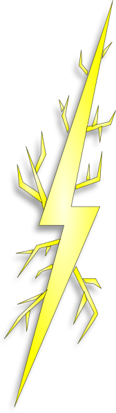 Bolt clipart cartoon. Electric spark clip art