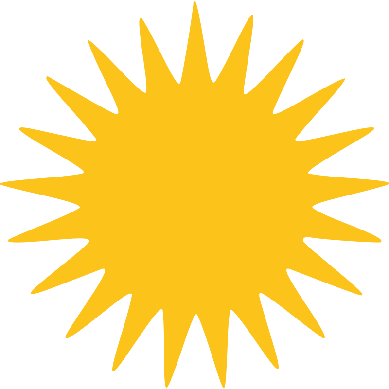 Sparks clipart burst. Free pictures of sun