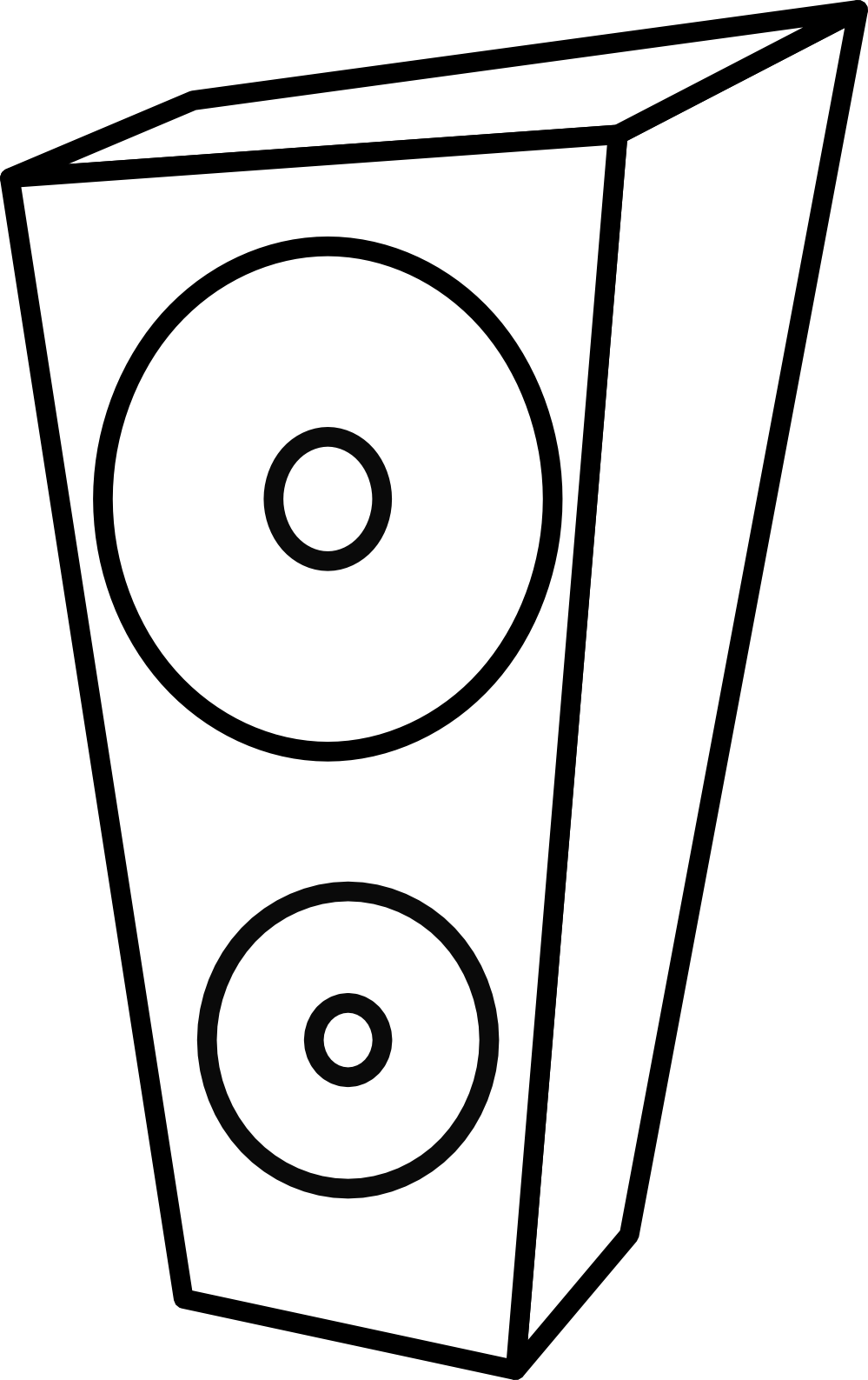 Computers drawing black and white. Speaker clipart