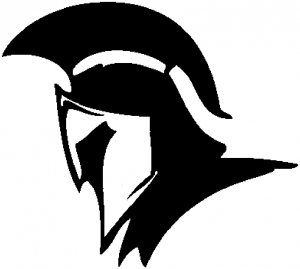 Spartan clipart knight helmet. Car or truck window