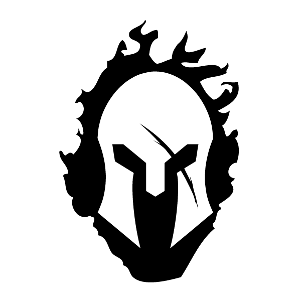 Spartan helmet png. With flames decal ms