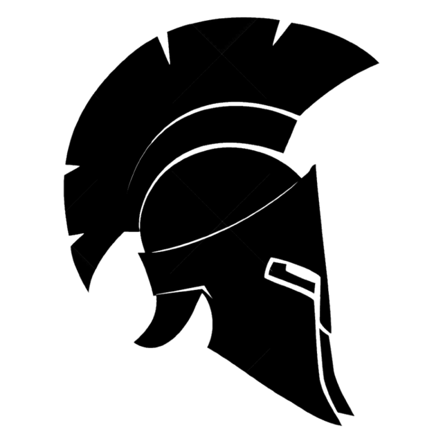 Ares vector spartan helmet side. Swagger tattoo myth sketch