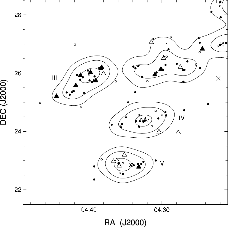 Spatial drawing black and white. Distribution of taurus bds