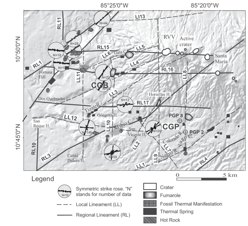 Spatial drawing structural. Major morphological lineaments and