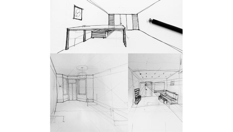 Spatial drawing. Build skills freehand visualisation