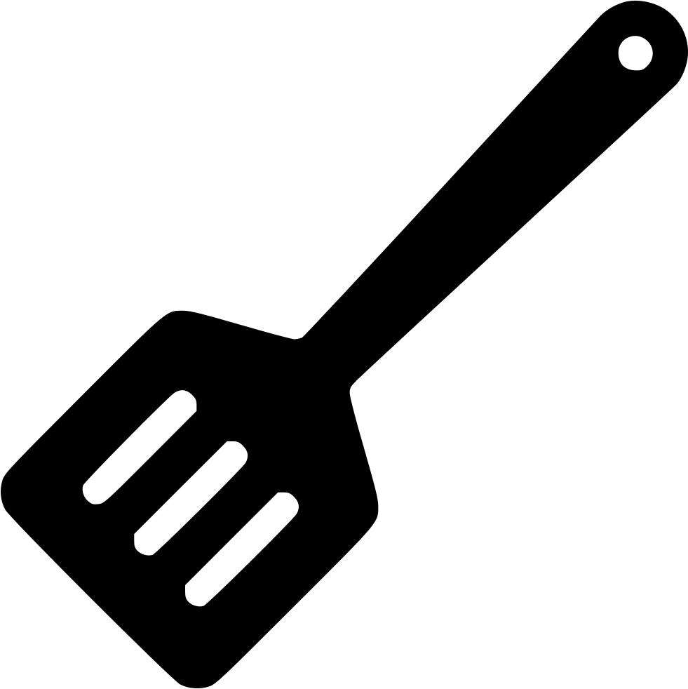 Spatula svg utensils. Utensil turning slotted turner