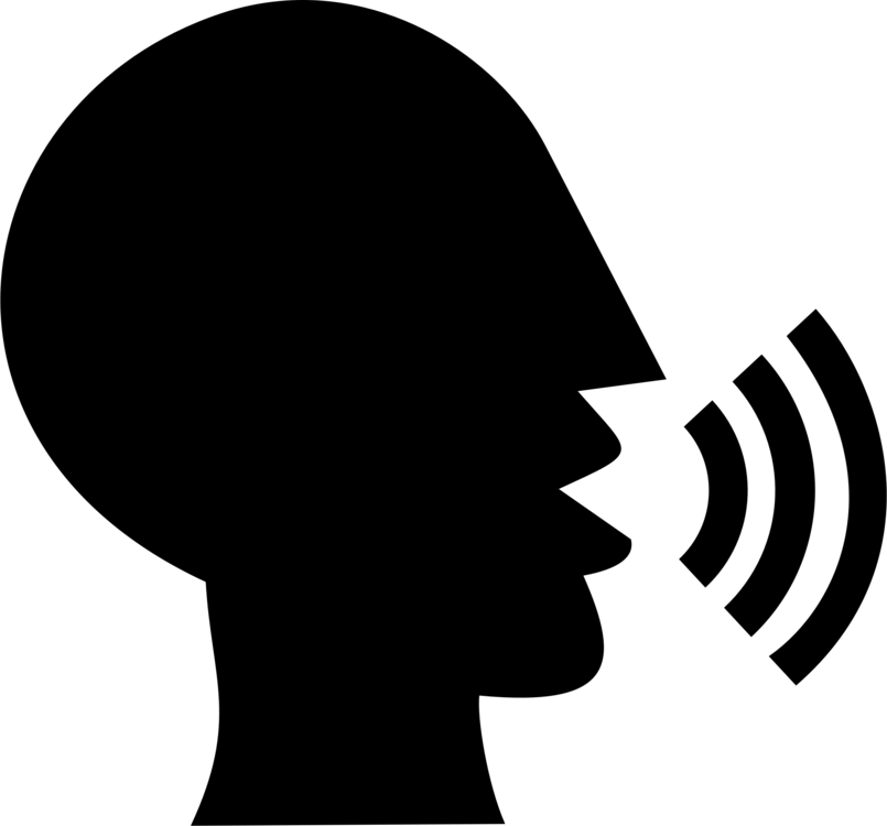 Speaking clipart black and white. Silhouette talking heads drawing