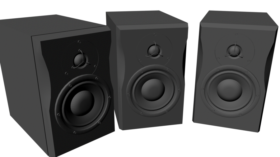 Speaker 3d png. Air speakers d by