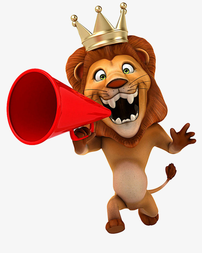 Speaker clipart horn speaker. Cartoon lions take the