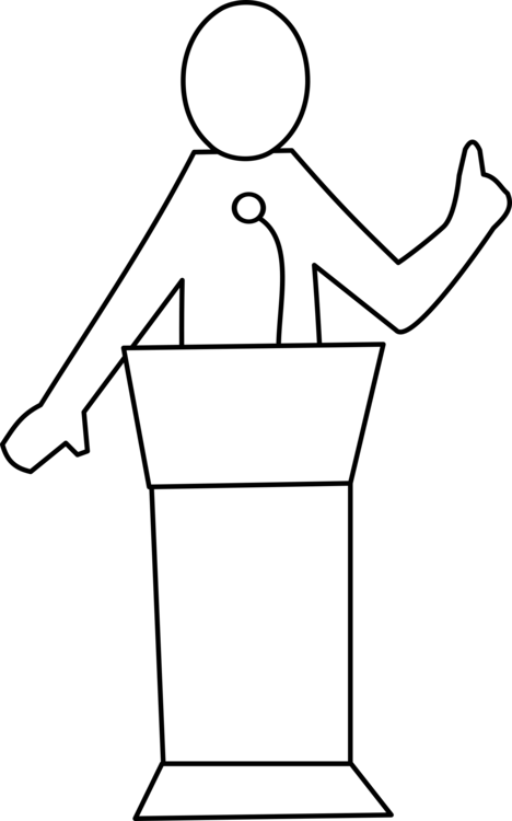 Speaker clipart public speech. Podium download speaking computer