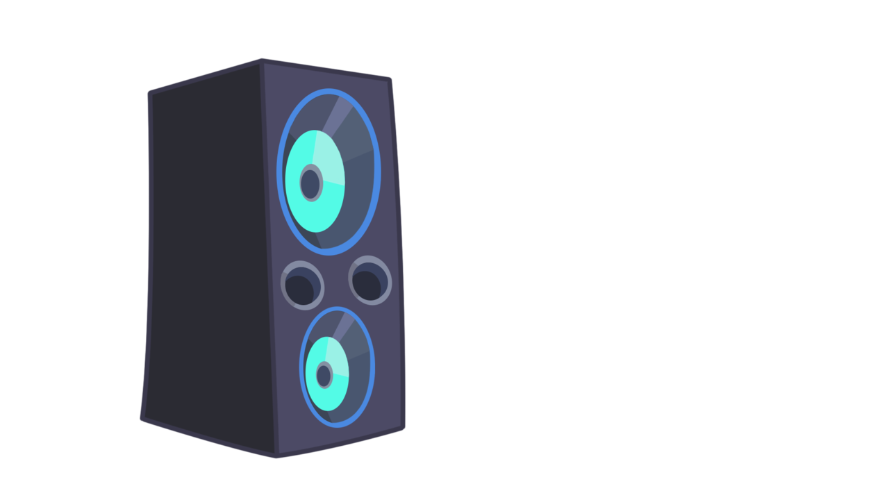 speaker transparent vector