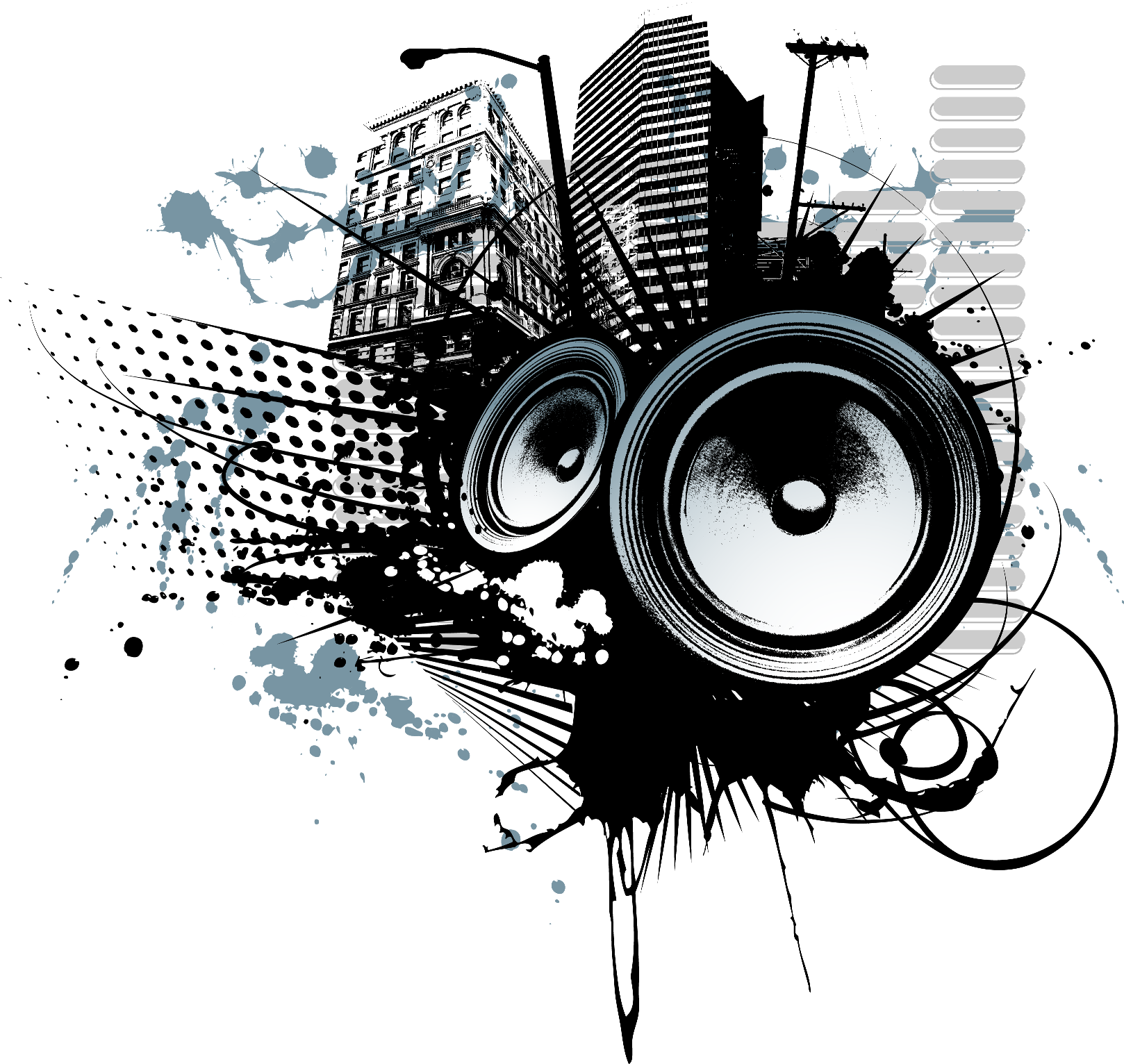 Speakers art png. Music image