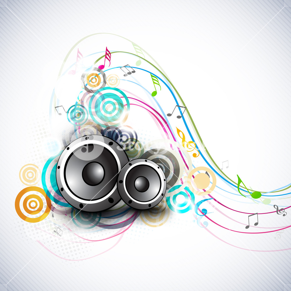 Speakers clipart abstract dance. Music background with and