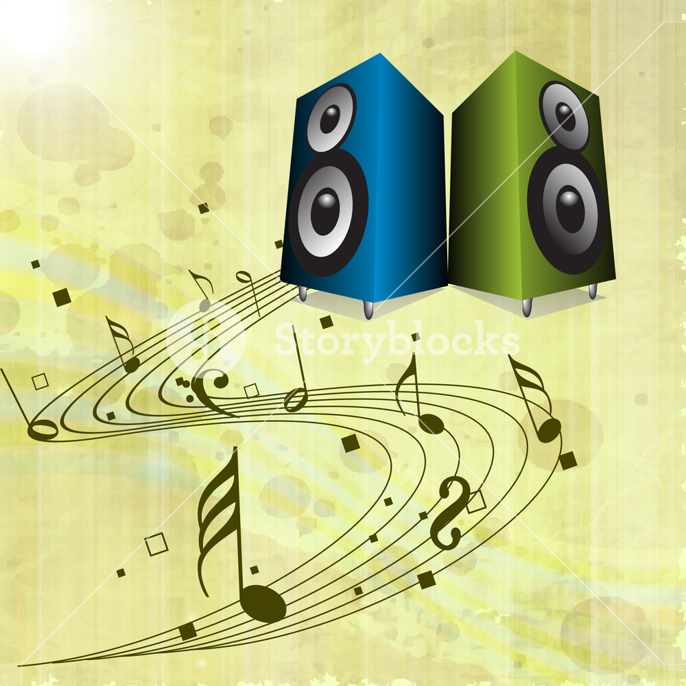 Speakers clipart abstract dance. Music background with loud