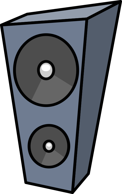 Vector system dj sound. Free speakers tripod cliparts