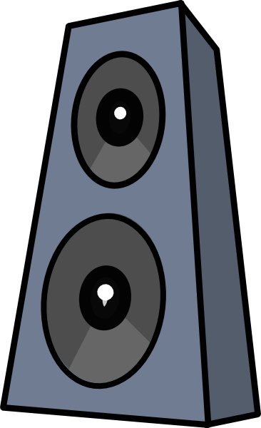 Speakers transparent clip art. On stands clipart