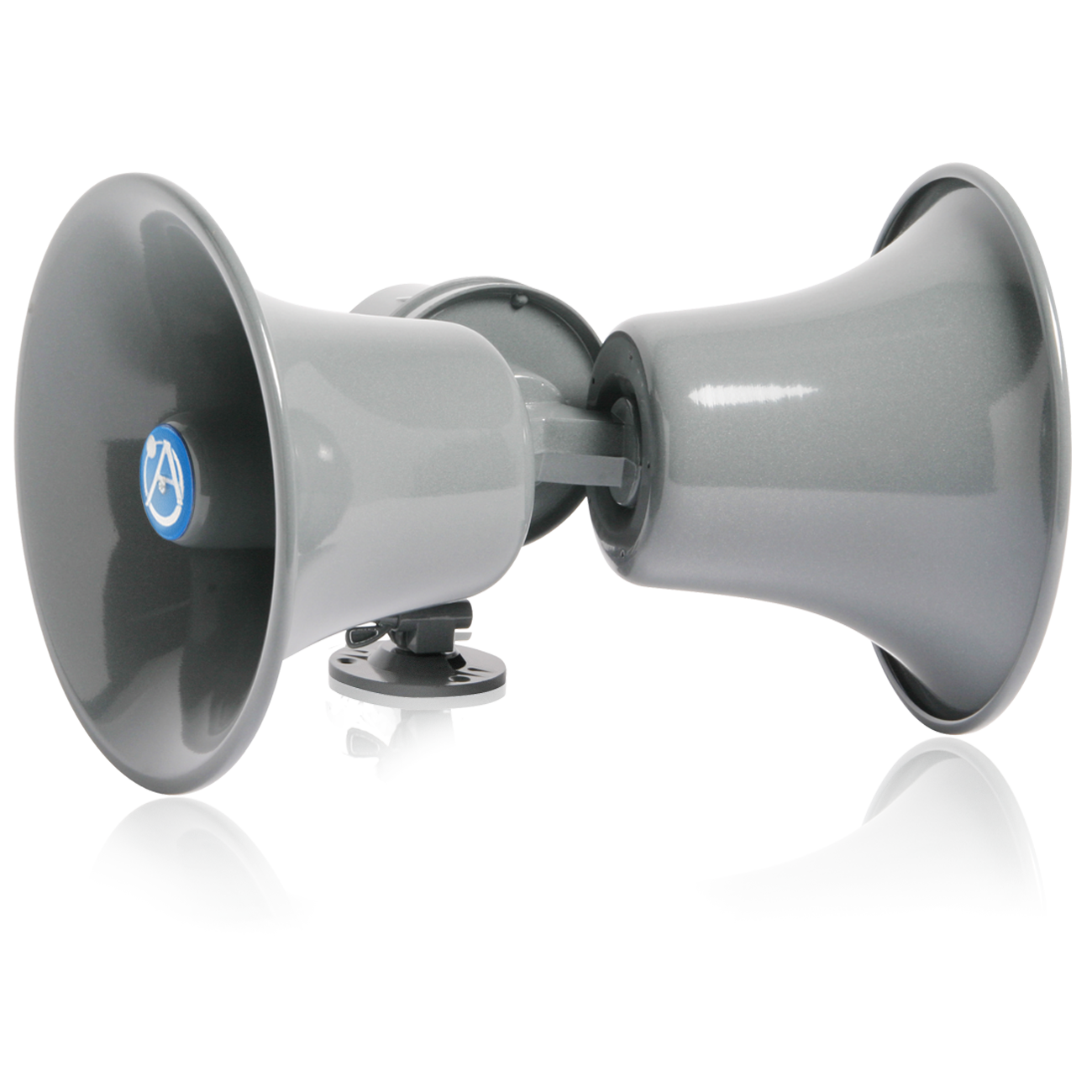 Speaker transparent horn. Dual direction twin loudspeaker