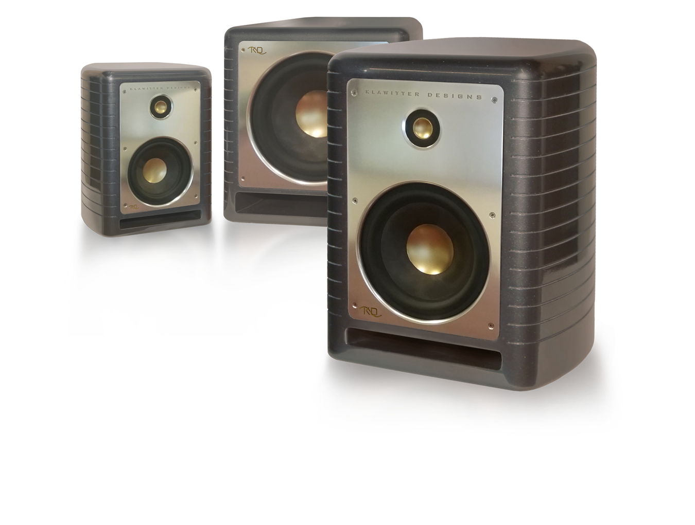 Speakers transparent monitor. Klawitter designs these rather