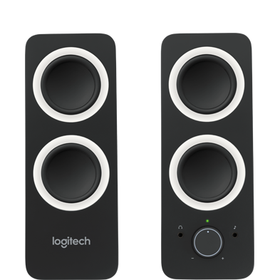 Speakers transparent simple. Logitech s slim mini