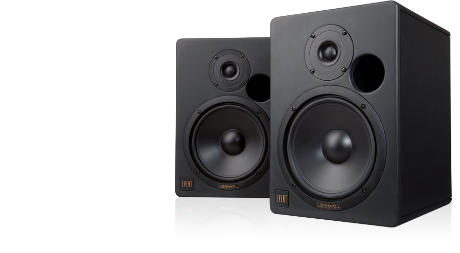 Speakers transparent studio. Event electronics reference monitoring