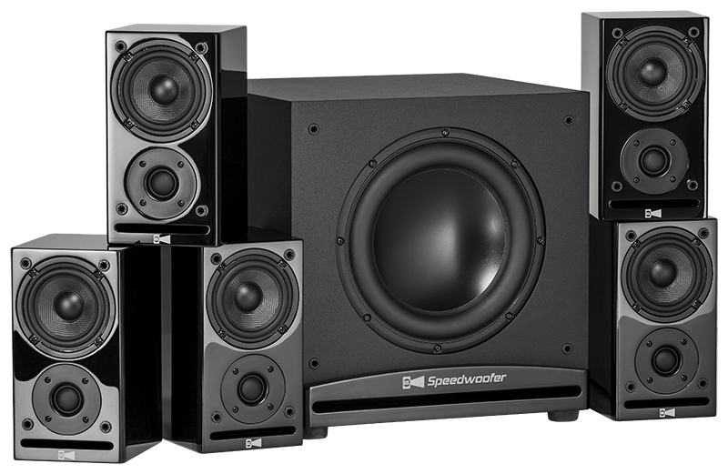 Speakers transparent subwoofer. Cg home theater system