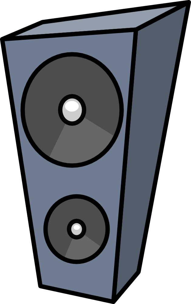 Speakers vector png. Onlinelabels clip art cartoon