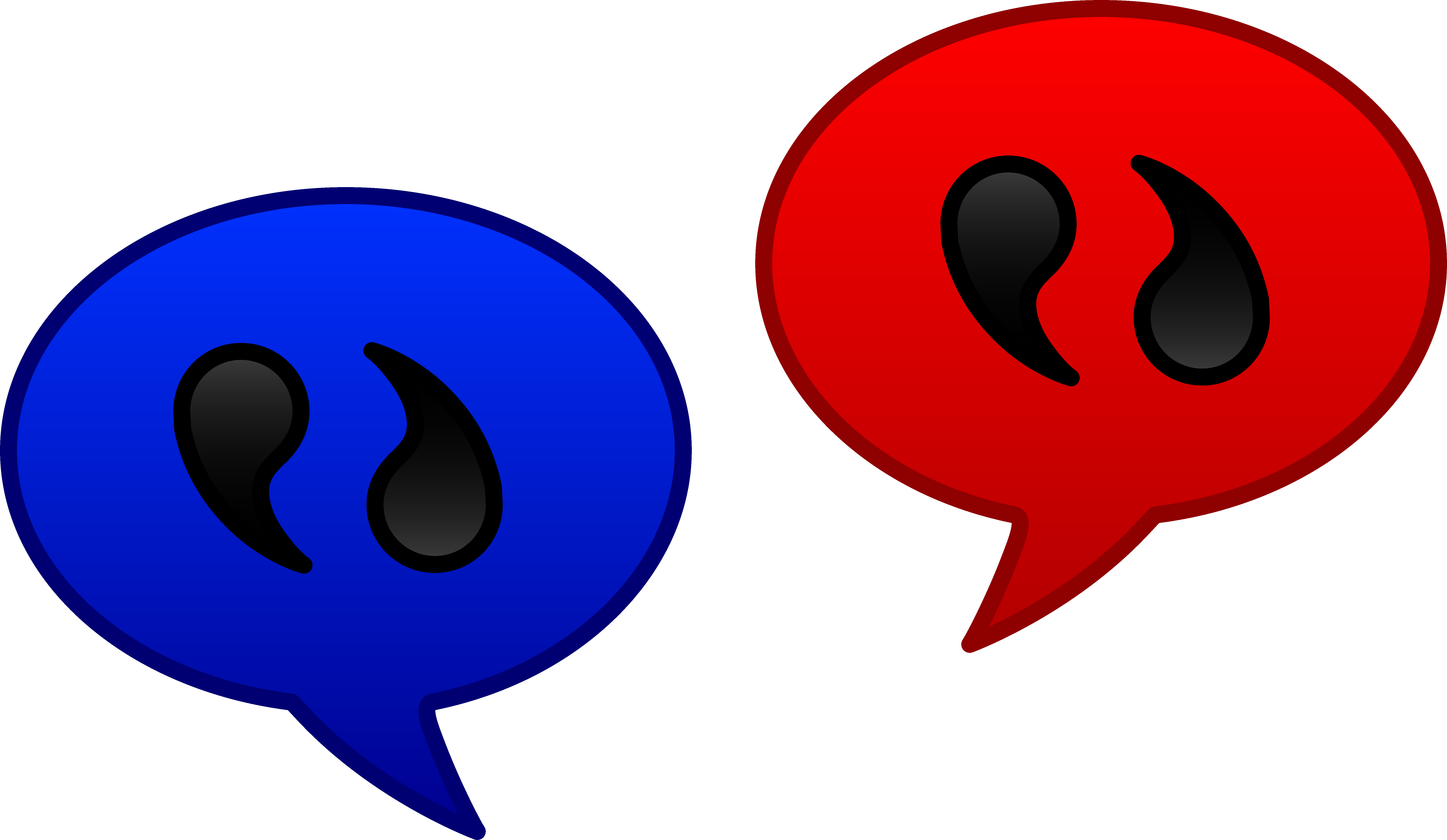 Speaking clipart dialogue. Speech balloon communication icons
